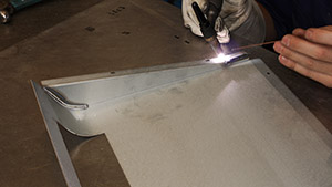 Welding a stainless steel seam